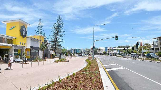 SAFER AND MORE ATTRACTIVE: The new-look Alexandra Pde, outside the Alex Surf Club.