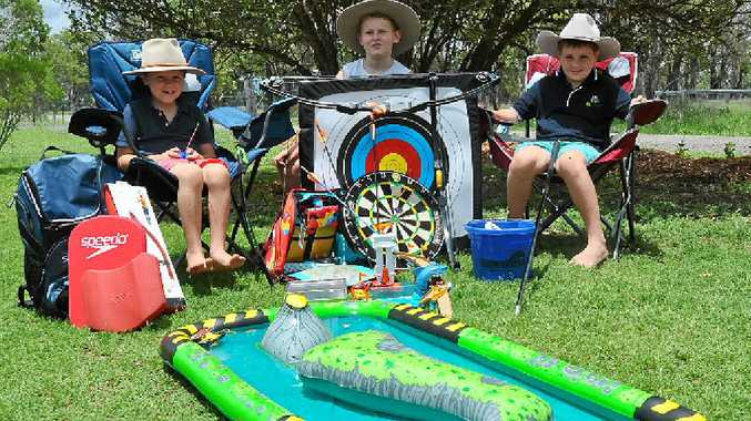 LOVING LIFE: Cameron, Henry and William Reardon enjoy the outdoors and were thrilled with the array of outdoor presents they received for Christmas.