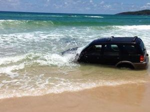 'Beached as' driver gets stuck at beach on Christmas Eve