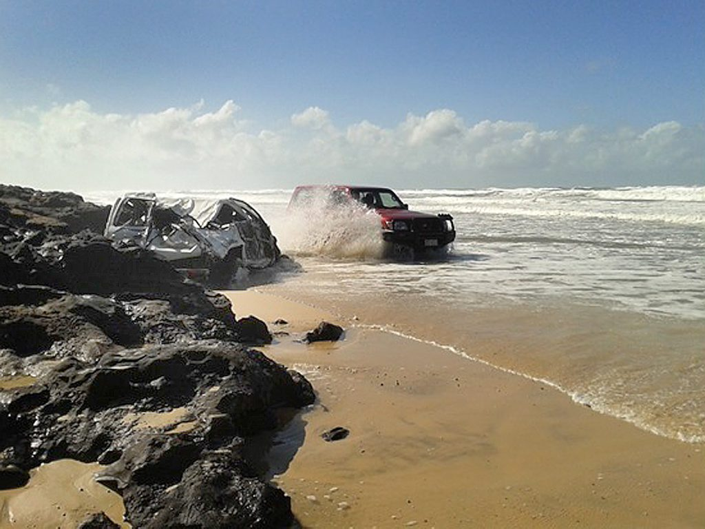 A man has drowned at Fraser Island's Eastern Beach on Saturday afternoon.