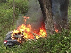 Ballard car crash and fire