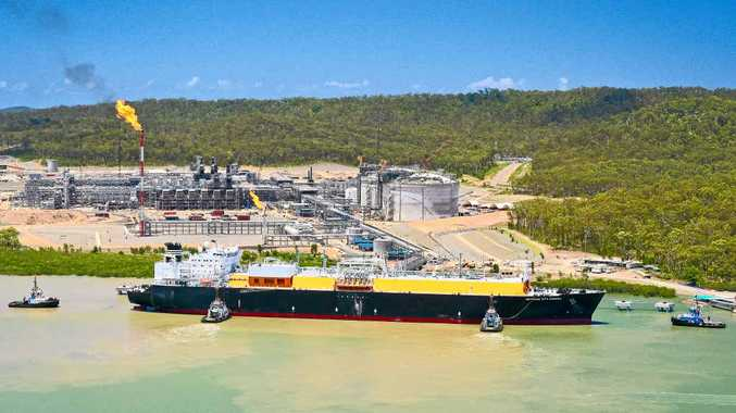 HUGE STEP: The LNG tanker, Methane Rita Andrea, docks at QCLNG, Gladstone, in an important milestone for the natural gas industry.
