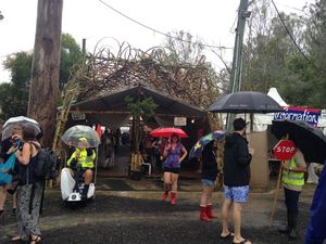Wet start hasn't dampened Woodford Folk Festival
