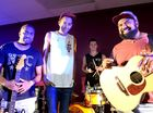 Clint Wallace, Zeek Power, Ash Moore and Jeremy Marou at a music fundraiser for the local Australian South Sea Islander Community and family of eight children murdered in their Cairns home. Photo Allan Reinikka / The Morning Bulletin