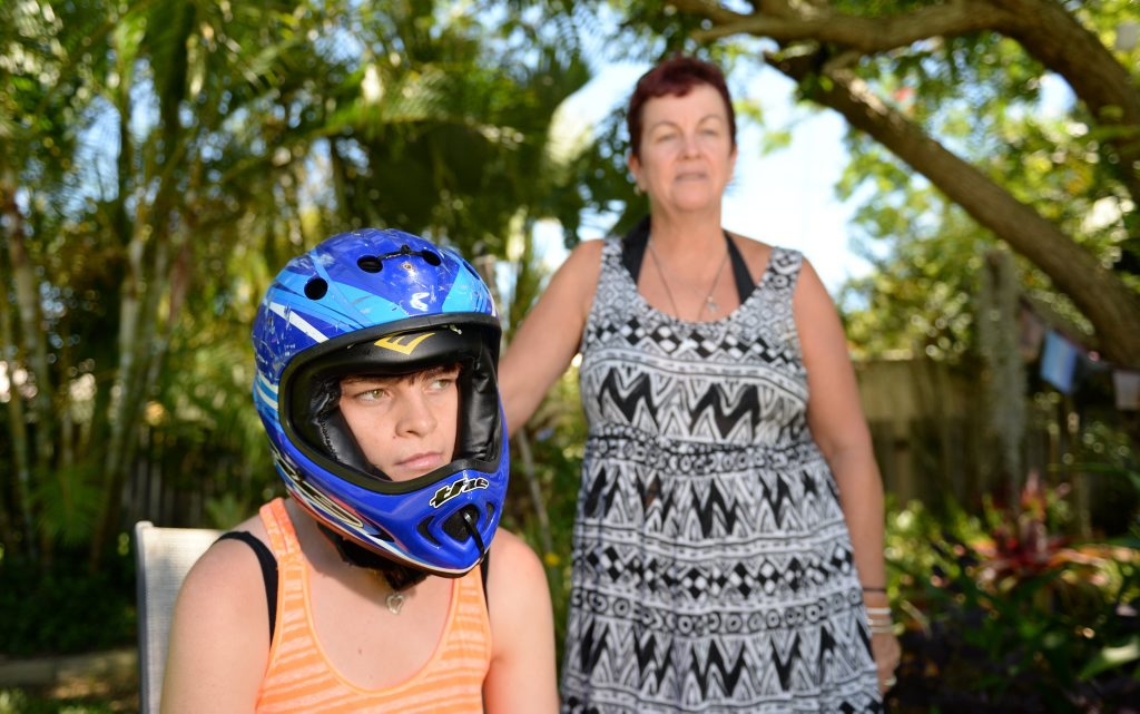 Chrissy Dunphy with her daughter Lissy (19) who suffers from a severe form of epilepsy which causes her to passout without warning. Photo: Chris Ison / The Morning Bulletin