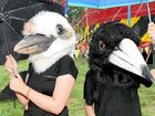 HAVING A BALL AT FESTIVAL: Masked Family Outings with Peta and Liam Kishawi from Gympie.