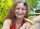 NATURE'S ARTWORK: Teena Harcla of Butterfly Hill, which is located at Nambour, find butterlies enchanting.