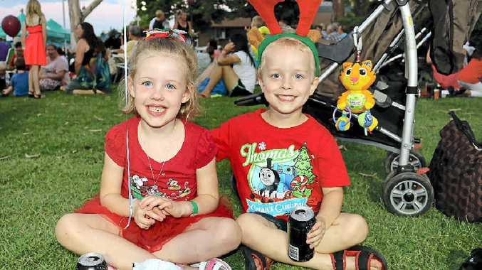 Gabrielle Drew and Beau Utz at the Gatton Christmas Carnival.