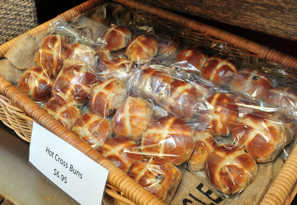 Hot cross buns and Easter eggs are already on sale at supermarkets.