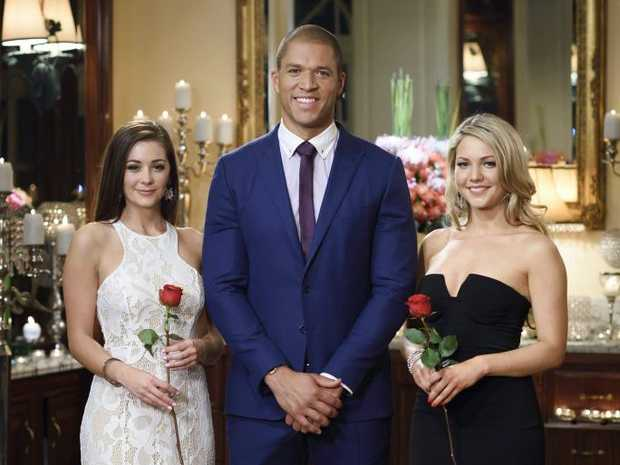 Lisa Hyde, Blake Garvey and Sam Frost in a scene from The Bachelor.