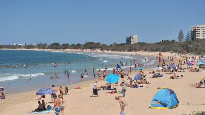 Swimmers at Mooloolaba were cleared from the water after a shark sighting this morning.