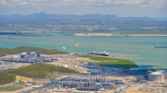 Methane Rita Andrea LNG tanker docking at QCLNG. Photo Mike Richards / The Observer