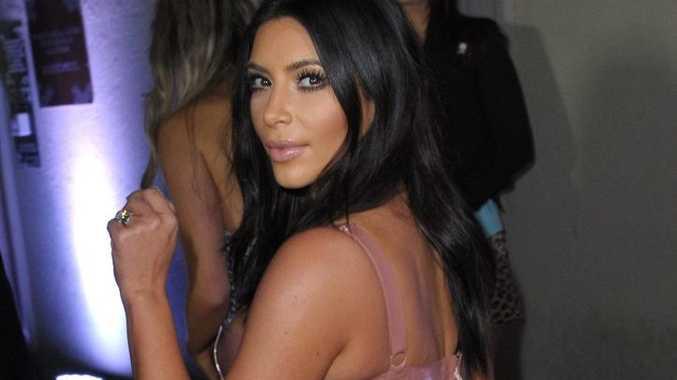 Kim Kardashian, arriving in Melbourne in December 2014