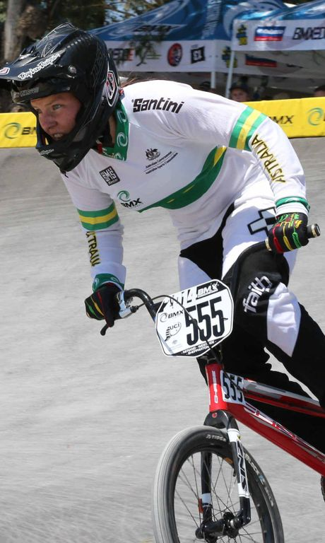 TOP QUALITY: Melinda McLeod at the BMX Australia National Series. The 22-year-old is set for a big 2015, racing a number of international competitions.