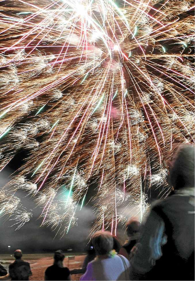 HAPPY 2015: Fireworks signal the start of a new year and, of course, many broken resolutions.