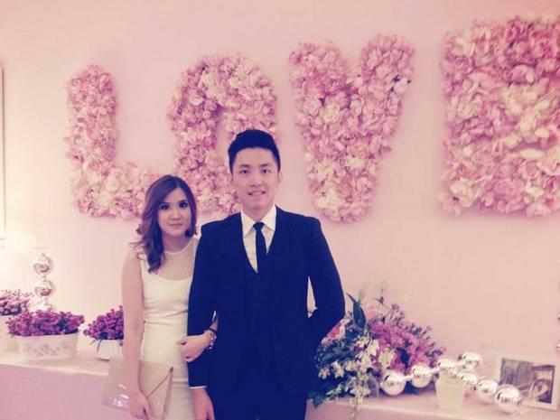 Ruth Natalia Puspitasari and her fiance, Bob Hartanto Wijaya. Source: Facebook