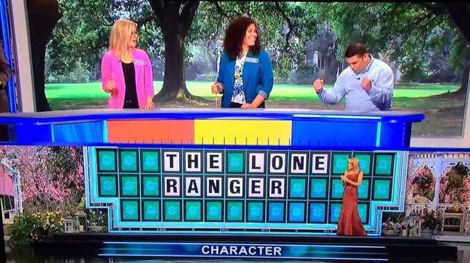 Matt DeSanto solves Wheel of Fortune puzzle with a single letter.