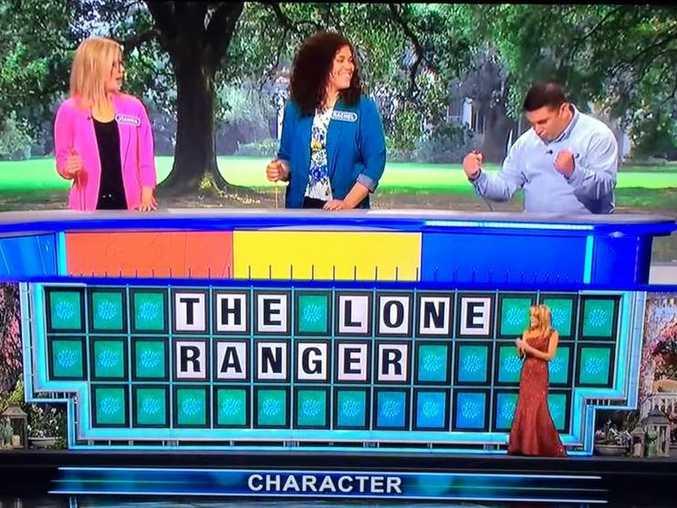 Matt DeSanto solves Wheel of Fortune puzzle with a single letter.