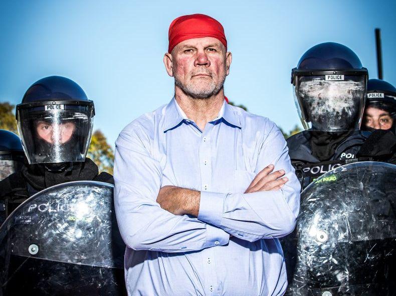 Peter FitzSimons presents the TV series The Great Australian Race Riot.