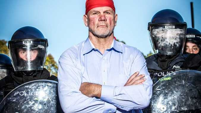 Peter FitzSimons presents the TV series The Great Australian Race Riot.