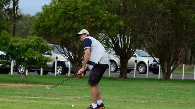 Dugald Shaw takes a practice swing. Photo Brandon Livesay/ South Burnett Times