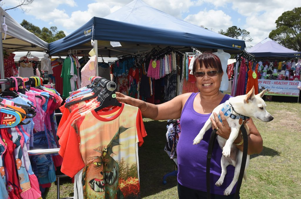 Image for sale: Nikenbah Markets are hosting the next six markets while Koala Markets take a break. Stall holder Myrna Cowell is pictured. Photo: Robyne Cuerel / Fraser Coast Chronicle