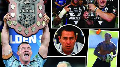 CLOCKWISE: New South Wales wins the State of Origin series; New Zealand wins Four Nations; Coach Shane Flanagan; Todd Carney getting a dishonourable mention; Wayne Bennett stepped down from Newcastle.
