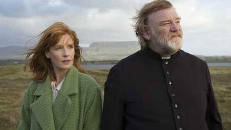 Kelly Reilly and Brendan Gleeson in movie Calvary.