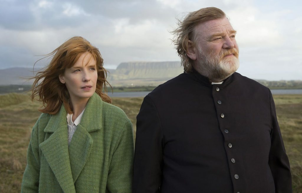 Kelly Reilly and Brendan Gleeson in movie Calvary.