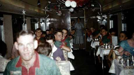 Dining car Sunlander 1958. Photo: Contributed