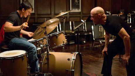 Miles Teller, left, and J.K. Simmons in Whiplash.