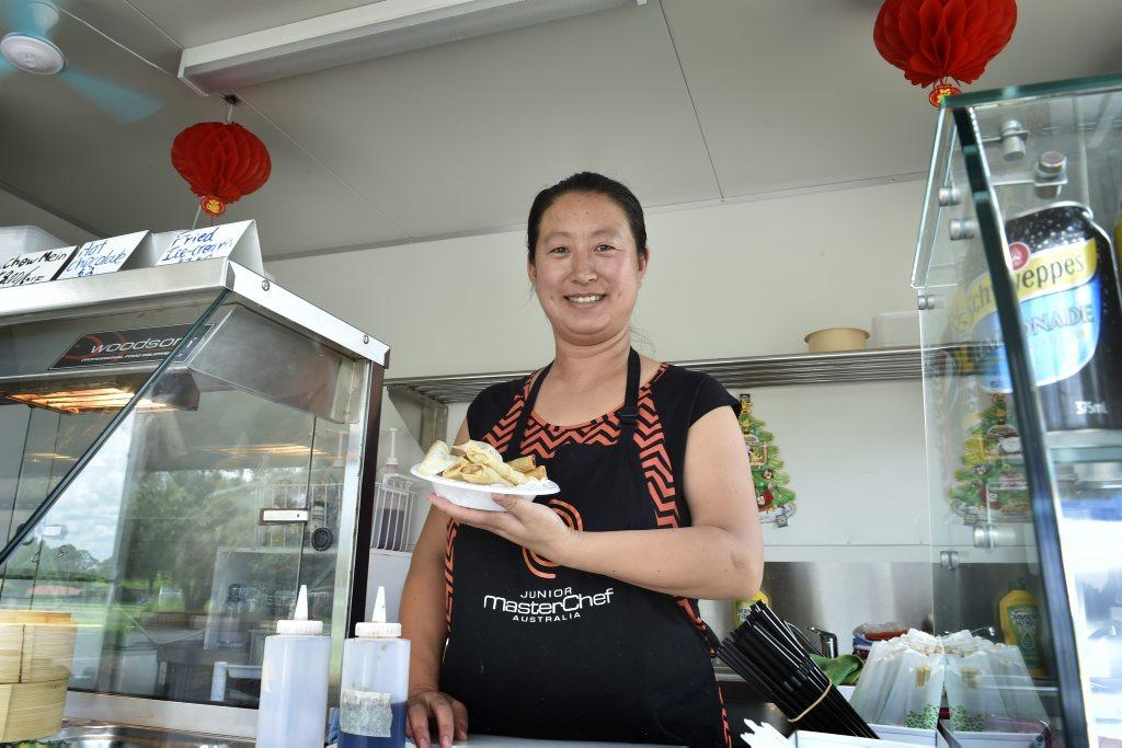 BEST DUMPLINGS: Best Dumpling food van owner Lihong Liang. Photo Bev Lacey / The Chronicle