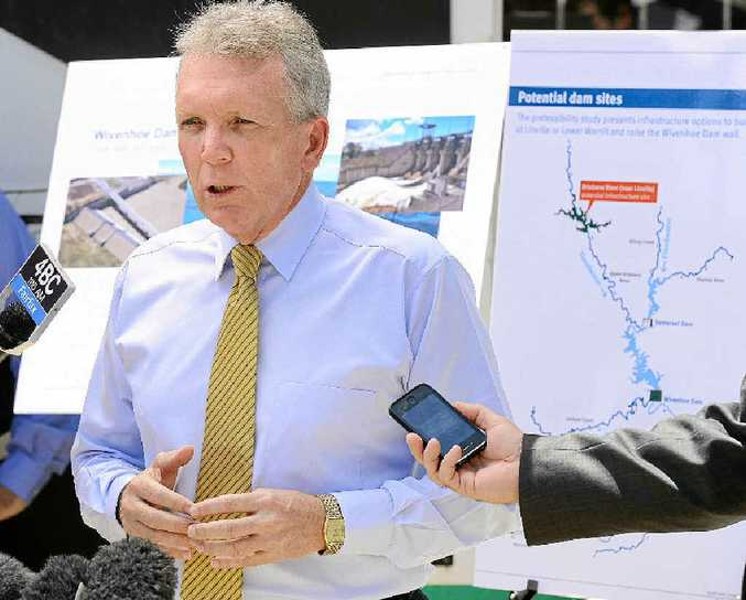 QUESTIONS: Water Supply Minister Mark McArdle in Ipswich last month to announce flood protection options.