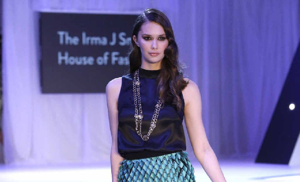 IN VOGUE: Rose Stunzner walks for The Irma J Smith House of Fashion at the 2014 Mercedes-Benz Fashion Festival in Brisbane.