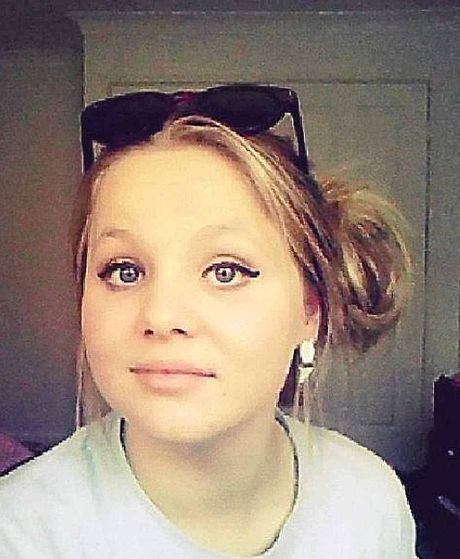 TOO YOUNG: Hope Dell, 17, died in a car crash.