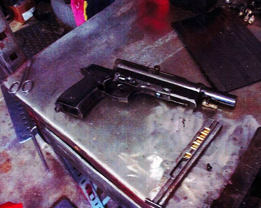 One of the firearms seized by the strike force investigating a violent robbery at Wooli in October.