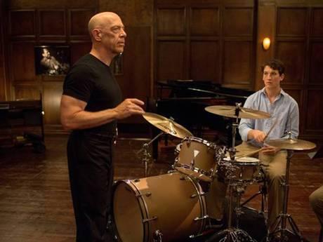 J.K. Simmons and Miles Teller in Whiplash