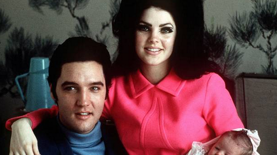 Elvis, Priscilla and baby Lisa Marie Presley. Riley Keough is the daughter of Lisa Marie.