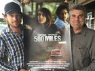 SCREEN SUCCESS: Actor Pete Valley caught up with Cr David Pahlke recently to discuss the success of 500 Miles that was filmed in Rosewood and surrounding area.