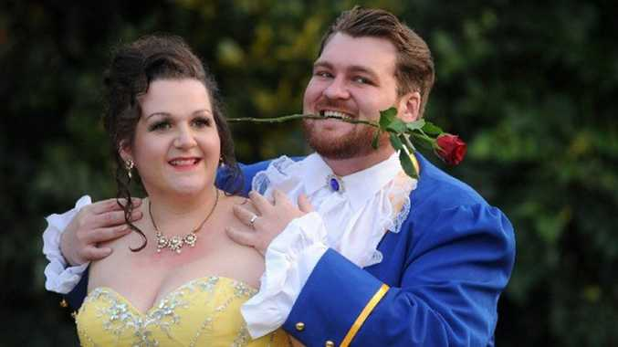 Toni and Eric Orford tie the knot in a Disney themed wedding.