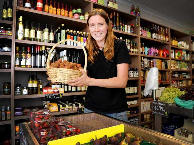 SOLD OUT: Jess Causley in her shop, Causley Fresh, in Yamba on Sunday with the replenished range of fresh produce. PHOTO: DEBRAH NOVAK