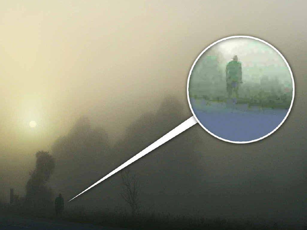 Gary Wait's 'ghost' photo from Saturday's Examiner.