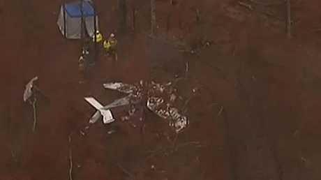 The scene of the plane crash (NBC News)