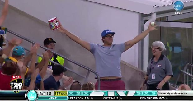 An epic catch by a Pottsville man has been praised by England cricket great Paul Collingwood.