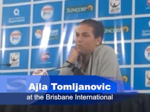Ajla Tomljanovic at the Brisbane International