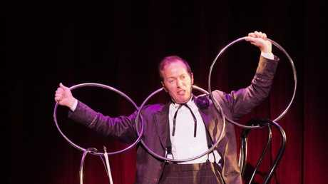The eccentric Charlie Frye in the Illusionists 1903 at QPAC's Concert Hall.