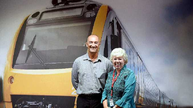Downer EDI General Manager of Production for Queensland, David Hill and State Member of Parliament Anne Maddern.