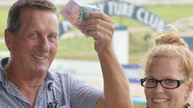LET'S GO RACING: Mackay Turf Club chief executive officer Murray Chapple and club organiser Shannon Clare are inviting you to take advantage of cheaper entry prices.