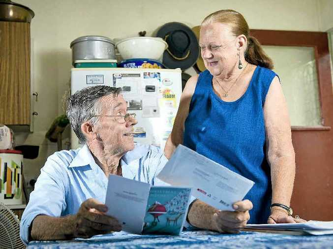 FROM GRAHAM: Jimmy Harris and his wife Bernice read a Christmas card from a friend they had lost contact with years ago.