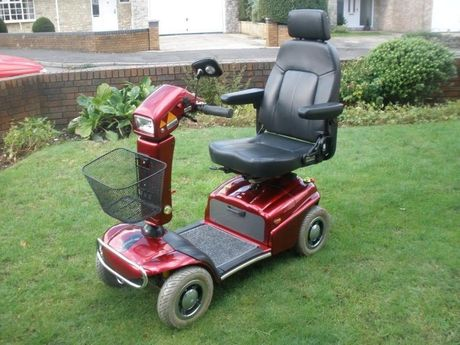 The mobility scooter stolen from outside a public toilet.